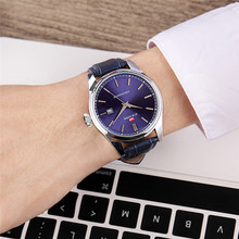 Simple Scale Watch Men Luxury Quartz Leather Band Calendar Display Top Brand Waterproof Relogio Masculino