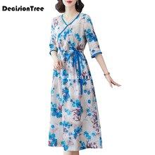 2021 ретро vestido китайское платье Ципао длинное традиционное