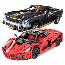 1568 adet spor yarış araba yapı taşları Creator City süper araba uzman tuğla seti araç modeli çocuk çocuk oyuncakları hediye
