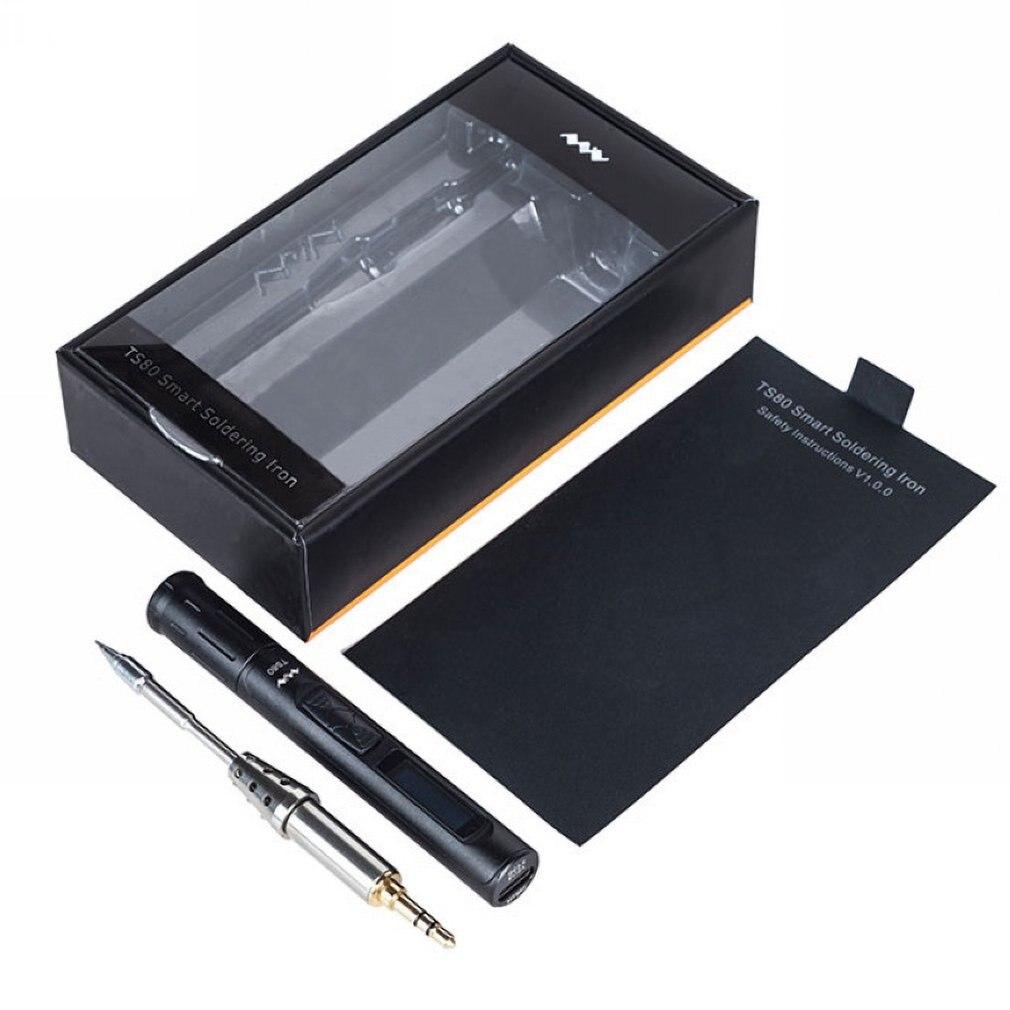 Новый TS80 Мини Портативный цифровой электрический паяльник Регулируемая температура паяльная станция OLED дисплей usb Тип C Мощность QC3.0