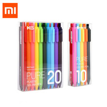 Xiaomi-Bolígrafo Original Mijia Kaco, PREMEC, recambio suave, 0,5mm, bolígrafos coloridos, con recarga de Tinta Azul, Negro, Rojo