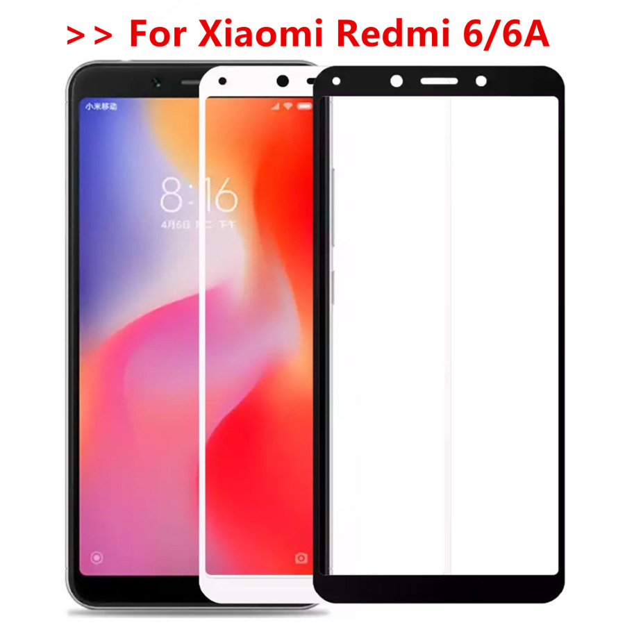 Protective Glass On For Xiaomi Redmi 6a 6 A Full Cover Tempered Glass For Xiomi Redmi 6 Redmi6a Screen Protector Film
