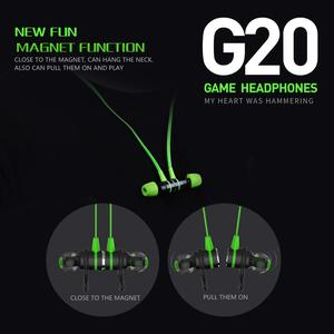 Image 2 - משחקי אוזניות סוג C G20 hammerhead בס אוזניות עם מיקרופון משחקי אוזניות עבור PUBG גיימר לשחק 2.2M wired אוזניות עבור טלפון
