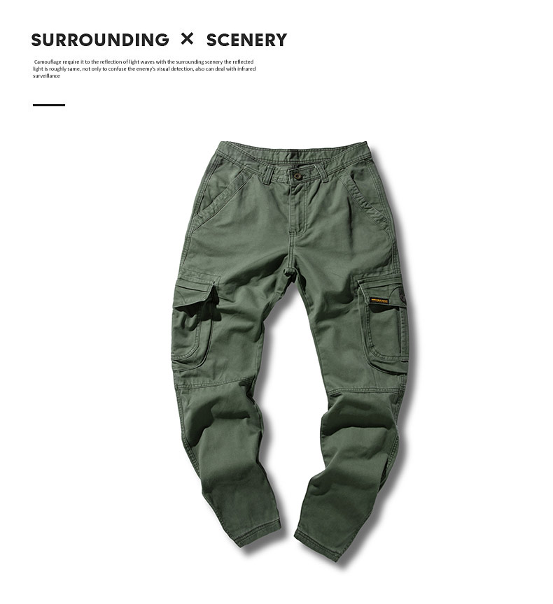 KSTUN 2020 Mens Military Cargo Pants Multi-pockets Baggy Men Cotton Pants Casual Overalls Army Oustdoor Tactical Trousers High Quality 24