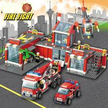 Ant Firefighter toy police building blocks puzzle small particle city fire department compatible le ladder truck aircraft
