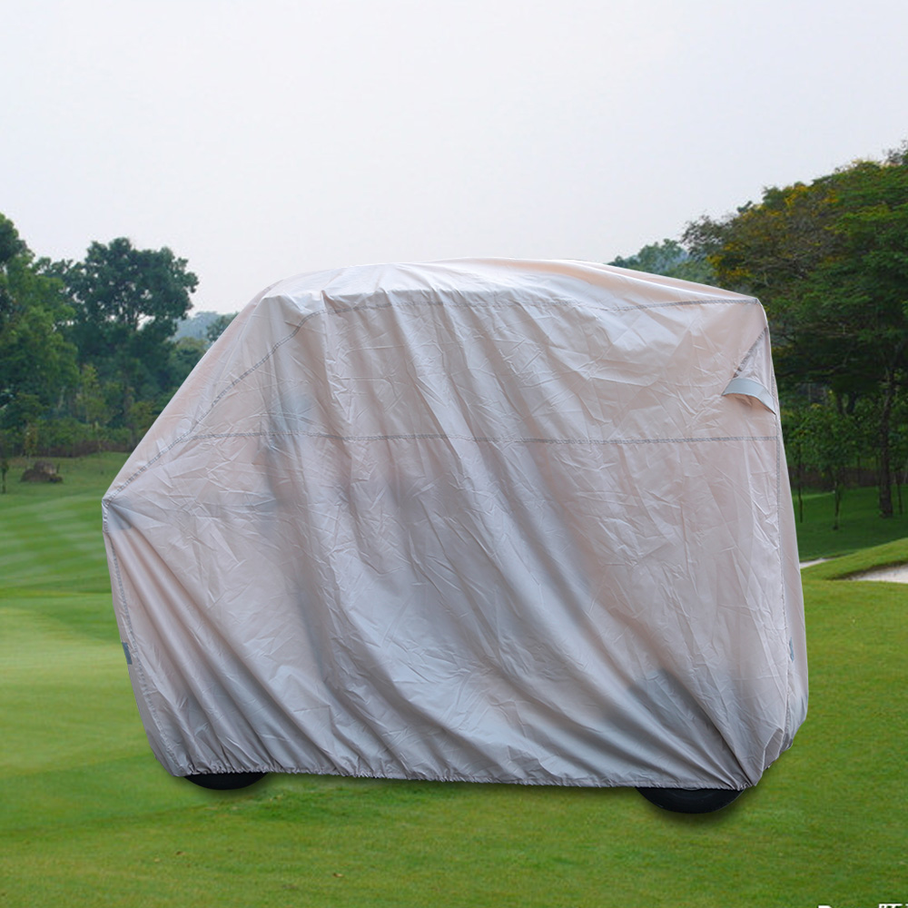 TOMSHOO Durable 2/4 Passenger Golf Cart Cover Waterproof Golf Cart Cover Car Roof Enclosure Rain Cover Golf Accessories