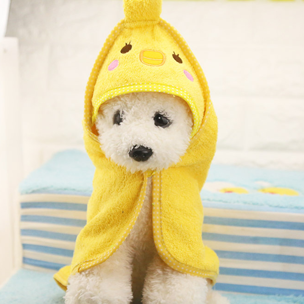 Cute Pet Dog Cat Towel Pets Drying Bath Towels with Hoodies Warm Blanket Soft Drying Cartoon Puppy Super Absorbent Bathrobes 9