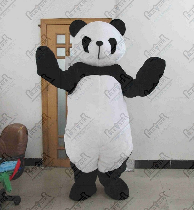 plush panda mascot costume quality real pictures panda costumes