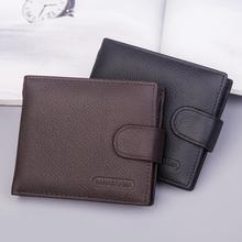 Jednokolorowe męskie portfele oryginalne krowy męskie portfele skórzane z portmonetka na zamek błyskawiczny torebka portfel posiadacz karty portfele tanie tanio Soloka Prawdziwej skóry Skóra bydlęca CN (pochodzenie) Krótki 120g Poliester 9 3cm Genuine Leather Stałe vintage men wallet