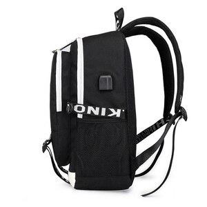 Image 3 - Naruto erkekler için sırt çantası kız çocuk okul çantası Usb şarj ile baskı Sharingan Logo öğrenci dizüstü seyahat sırt çantası erkekler için