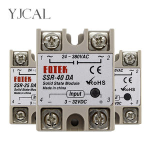 Module Solid-State-Relay SSR-25DA DC 3-32v-Input 24-380V 25A Output AC High-Quality 40A