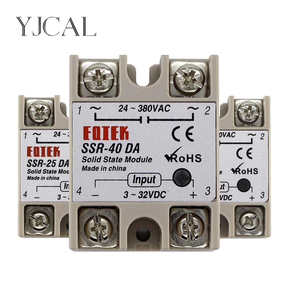 SSR-10DA SSR-25DA 10a 25a 40a твердотельный релейный модуль 3-32 в, вход постоянного тока 24-380 в, выход переменного тока, высокое качество