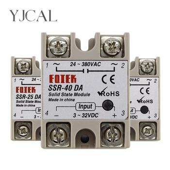 цена на SSR-10DA SSR-25DA SSR-40DA 10A 25A 40A Solid State Relay Module 3-32V Input DC 24-380V AC Output High Quality