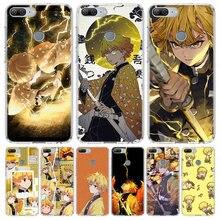 Coque de téléphone Demon Slayer Agatsuma Zenitsu, étui pour Huawei Honor 10 9 Lite Y9 Y5 Y6 Y7 2019 8X 8A 8S 7A 7X 10i 20i Pro V30 Art Coque Ca