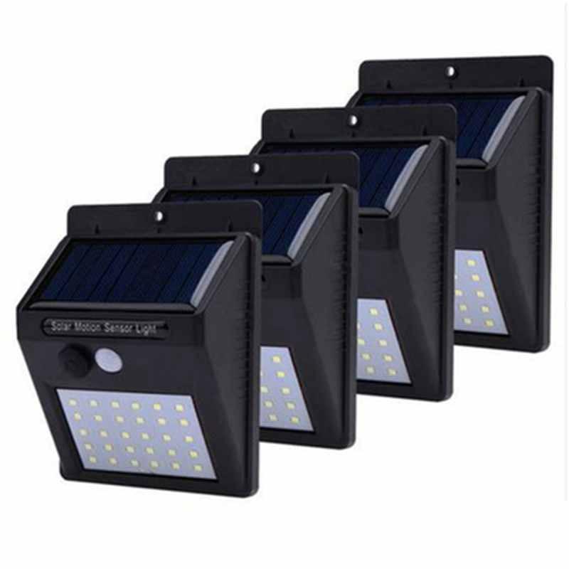 Solar Lights Outdoor Rechargeable 20/30LEDs Solar Light Bulb Garden Lamp Decoration PIR Motion Sensor Night Wall Light 1-4PCs