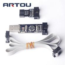 Free Shipping~USBASP+10PIN TO 6PIN ADAPTER New USBASP USBISP AVR Programmer USB ATMEGA8 ATMEGA128 10pcs free shipping atmega8l 8pu atmega8 16pi
