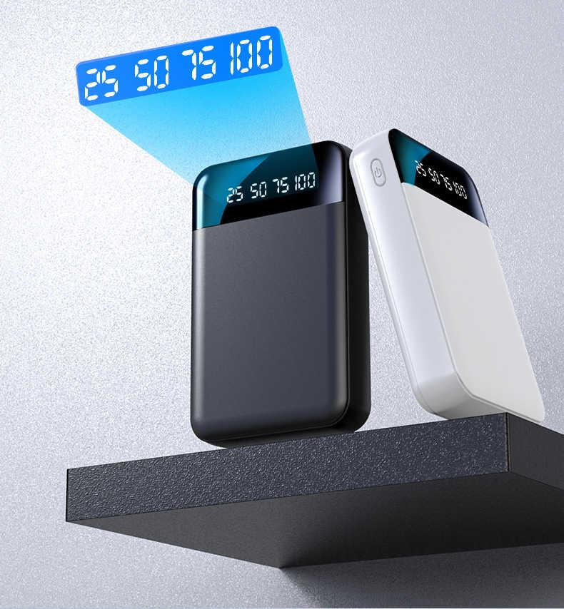 12000mAh כוח בנק עבור שיאו mi Mi iphone 8 חיצוני סוללה נייד מטען כפול USB Powerbank Mi ni Poverbank bateria פנימית וחיצוני