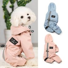 Płaszcz przeciwdeszczowy dla psów szczeniak z kapturem wodoodporny oddychający pochłaniający pot odblaskowe płaszcz przeciwdeszczowy płaszcz przeciwdeszczowy dla psów artykuły dla zwierząt tanie tanio CN (pochodzenie)