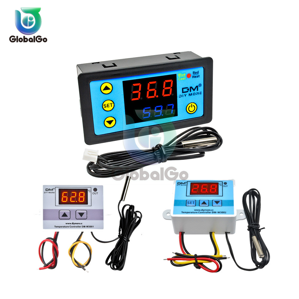 AC 110-220V Temperature Controller Digital Thermostat Thermoregulator <font><b>XH</b></font> <font><b>W3001</b></font> W3002 W3230 W3231 W1209WK Temperature Meter Test image