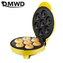 DMWD домашний Сделай Сам Пончик Машина вечерние жаропрочная посуда для десерта электрическая противень антипригарное двухстороннее нагревание 220 В