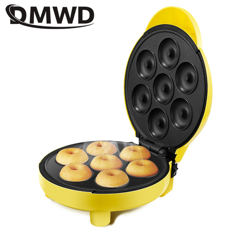 DMWD Home DIY Donut Maker Doughnut Machine Party Dessert Bakeware Electric Baking Pan Non-stick Double-sided Heating 220V