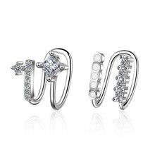 100% Plata de Ley 925 cristal brillante estrella hembra Clip pendientes promoción joyería para mujeres nunca se decolora Envío Directo
