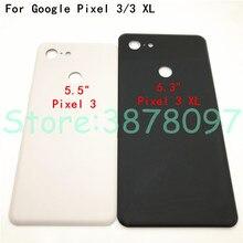 Qualidade superior para o google pixel 3 pixel xl voltar caso capa de bateria 3d vidro traseiro habitação capa + adesivo substituição