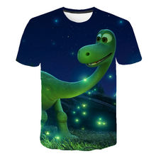 4-14 Year The Boys 3D Dinosaur T Shirt Children's Short Sleeves Cartoon Tshirt Dinosaur Kids Girl Toddler Summer T-Shirt Clothes