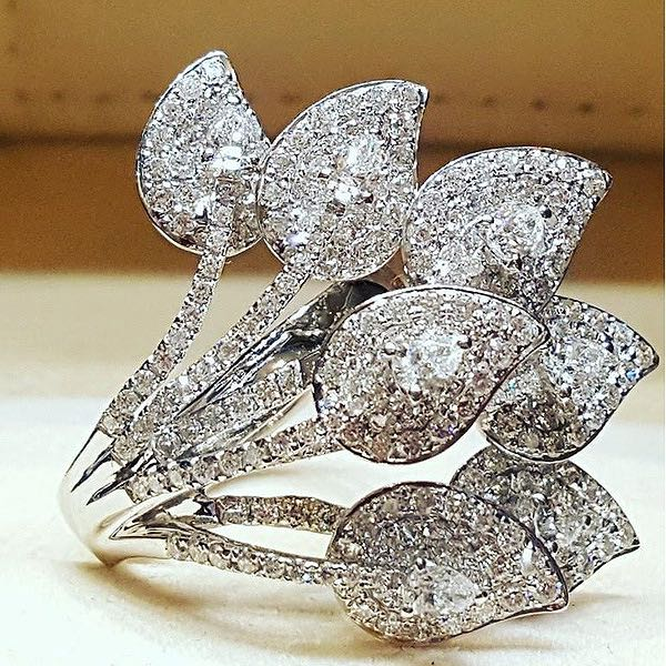 Vintage White Crystal Peacock Wedding Rings For Women Wedding Party Gift Sliver Color Engagement Fas