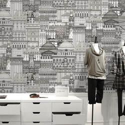 Характеристики магазин одежды офисные ПВХ обои современный минималистичный ресторан спальня гостиная диван Настенные обои