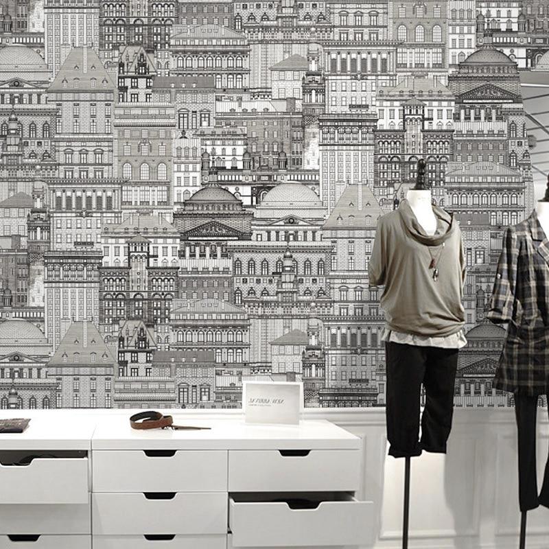Characteristics Clothing Store Office PVC Wallpaper Modern Minimalist Restaurant Bedroom Living Room Sofa Wall Wallpaper