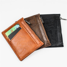 1pcs Valentine's Day Gift Fashion Creative Zipper Coin Purse Card Holder Pu Leather Multifunctional Card Holder For Boyfriend