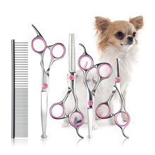 Stainless Steel Dog Grooming Scissor Kit Pet Cat Shears Hair Cutter Straight  Thinning Curved Scissors Hair Cutting Styling Tool pc hidic for hitachi h2000 h300 h700 series plc oem pchidic plc programming cable free shipping