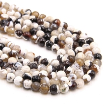 Natural Stone White Fire Agates Beads Round Loose Onyx Beads Faceted Fire Agates Beads 16/Strand 4 DIY Jewelry making bracelet софокл the oedipus legacy