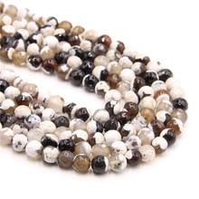 Natural Stone White Fire Agates Beads Round Loose Onyx Beads Faceted Fire Agates Beads 16/Strand 4 DIY Jewelry making bracelet соколова л рэйки риохо исповедь учителя