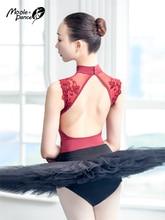 Sexy Body di Danza di Un pezzo Vestiti di Pratica di Ballo Del Merletto Delle Donne di Ginnastica di Danza in Costume Per Adulti di Alta Collare di Balletto Body