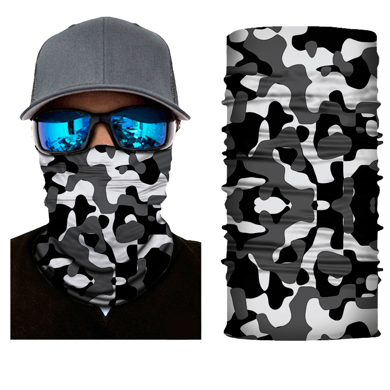 High-Jump Military Camo Hiking Scarf 100% Polyester Windproof Neck Face Mask Anti UV Tactical Terrking Bandana