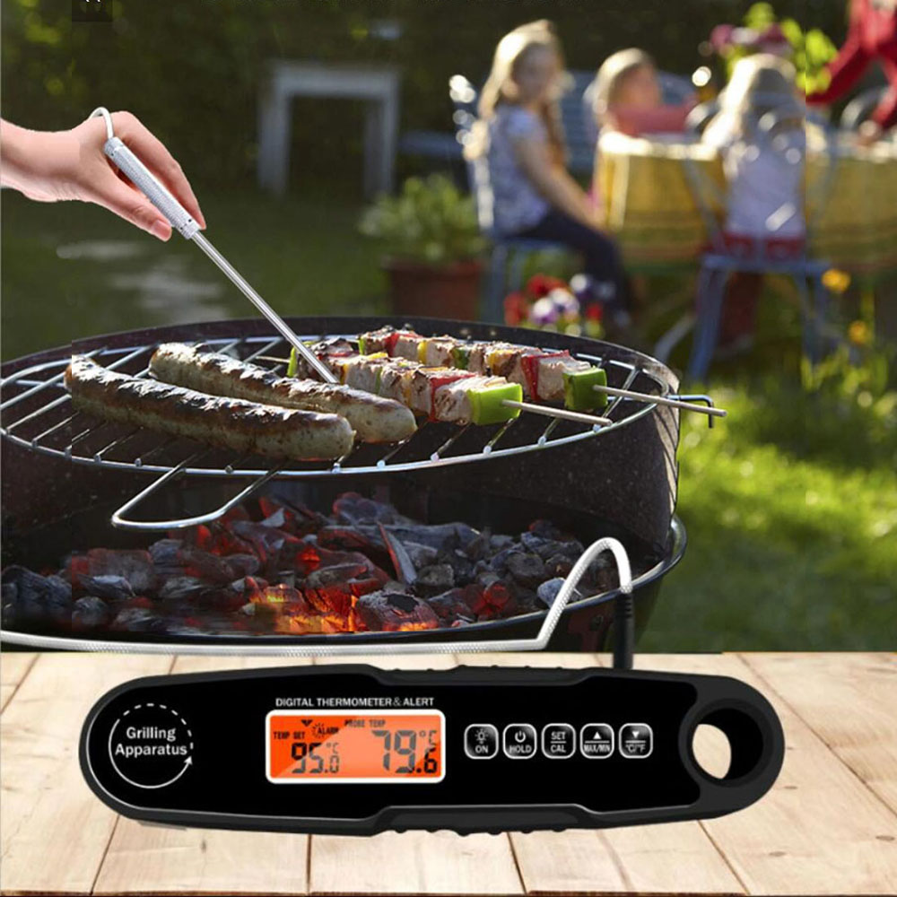 IPX4 Waterproof Handheld Foldable Kitchen Food Cooking BBQ Meat Grill Roast Oven Thermometer Milk Liquid Temperature Probe Fork 4