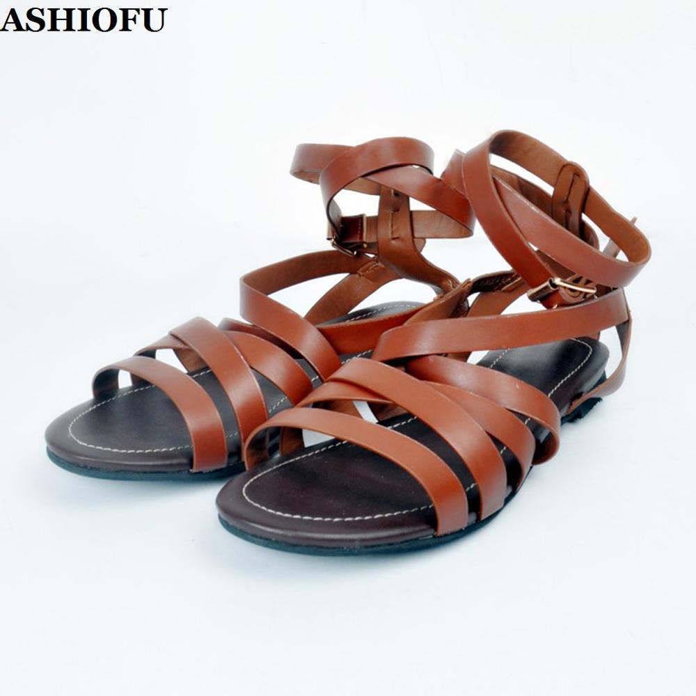 ASHIOFU Handmade Cheap Ladies Flat