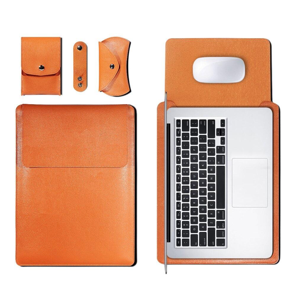 Коврик для мыши сумка для ноутбука Xiaomi Macbook Air 11,6 12 13 Чехол retina Pro 16 15 15,6 из искусственной кожи чехол для ноутбука Funda