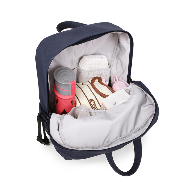 Diaper Backpack for Newborn Baby Babysbreath Leather Waterproof Maternity Bag for Mother Large Capacity Travelling Bag for Baby | Happy Baby Mama