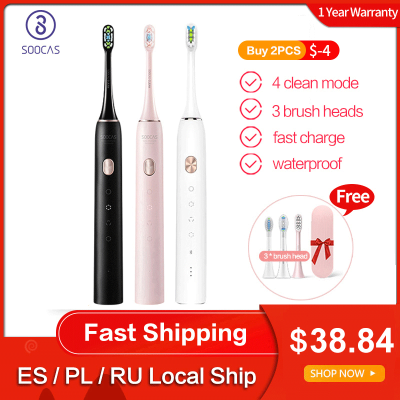 Electric Toothbrush Upgraded Sonic X3U Rechargeable Automatic Soocas Waterproof Adult