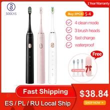 Version mondiale Soocas X3U brosse à dents électrique sonique améliorée adulte imperméable à leau Ultra sonique brosse à dents automatique USB Rechargeable