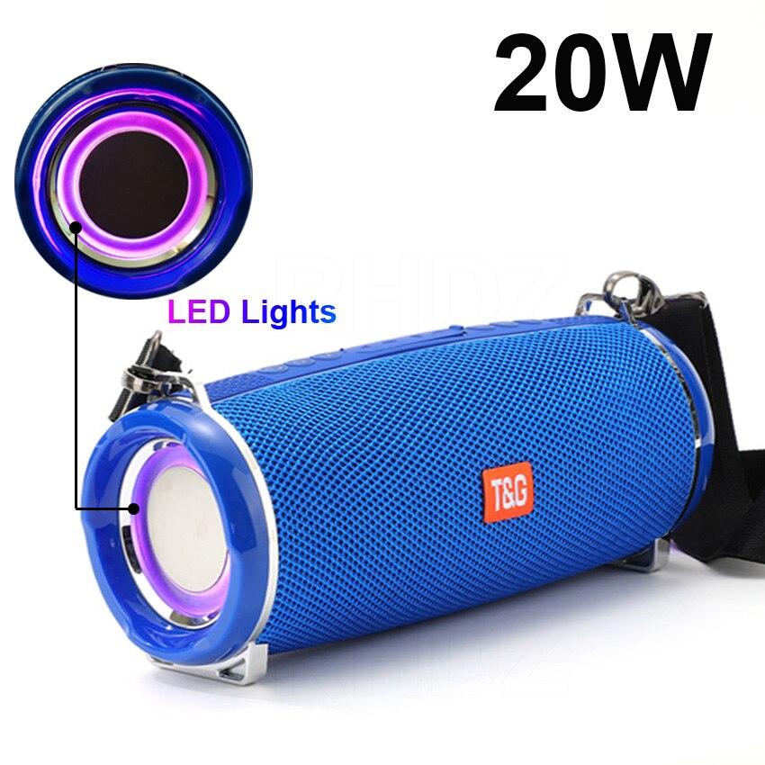 Портативные bluetooth-колонки, светодиодные лампы, сабвуфер, колонка с радио, музыкальная шкатулка, система объемного звучания, водонепроницаем...