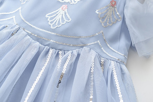 Image 4 - LOVE DD&MM Girls Dresses 2020 New Kids Clothing Sweet Butterfly Embroidered Sequins Mesh Princess Dress For Girl 3 8 Years