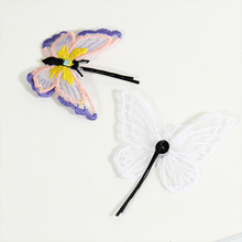 1Pcs/Set Cute Fashion Butterfly Baby Hair Clips Chinese Embroidery Double LayerHairpins For Girls Accessories Newborn New
