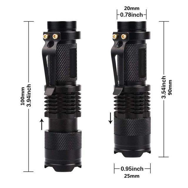 Lumière noire 365/395 nm UV lampe de poche Portable détecteur dultraviolets