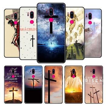 Jezusa chrystusa bóg zapłać U etui na LG G7 G8 ThinQ K40 K41s K40s K50s K61 G6 Q51 Q60 Q61 Q70 czarny silikonowa osłona na telefon pokrywa tanie i dobre opinie Yomic CN (pochodzenie) Aneks Skrzynki Black Soft Silicone Phone Case Cover Coque Geometryczne Cytaty i Wiadomości Zwierząt