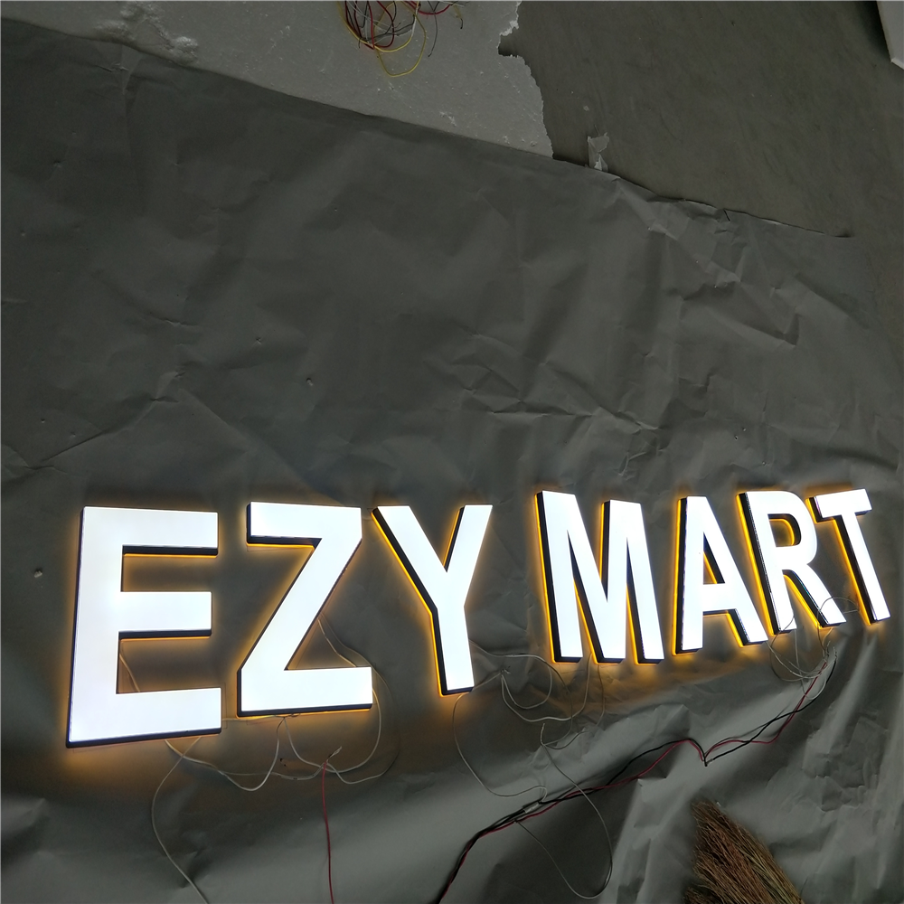 Factory Outlet  High Quality 25mm Thick Acrylic Super High Brightness Shop Sign, Custom Led Letter Signs For Logos Company Name