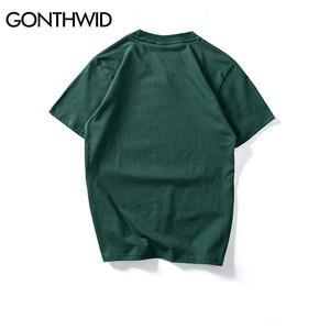 Image 2 - Gonthwid camisetas masculinas, virgin maria, estampadas, engraçadas, manga curta, verão, hip hop, algodão, tops casuais, streetwear, 2020
